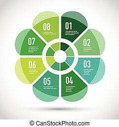 modèle, business, vert