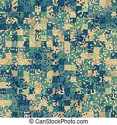modèle, camouflage, pattern., seamless, pixel, urbain, premier plan