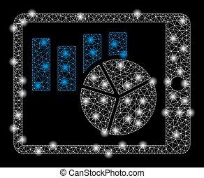 modèle, carrée, pda, diagrammes, or
