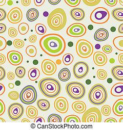 modèle, carrés, dessiné, seamless, main