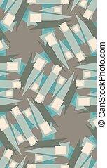 modèle, carrés, triangles