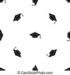 modèle, casquette, noir, seamless, étudiant