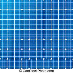 modèle, cellules, solaire