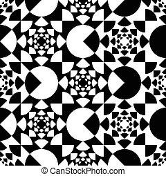 modèle, cercle, noir, blanc