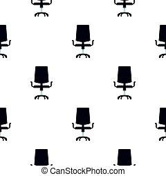 modèle, chaise, noir, bureau, plat