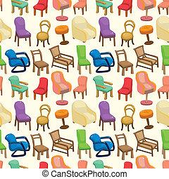 modèle, chaise, seamless, meubles