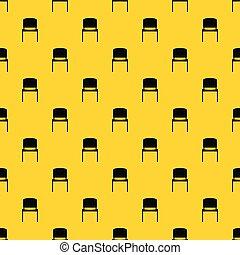 modèle, chaise, vecteur, noir, bureau