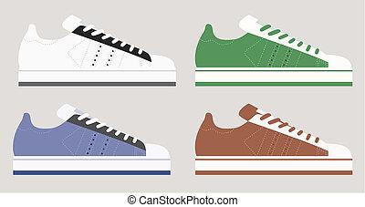 modèle, chaussures