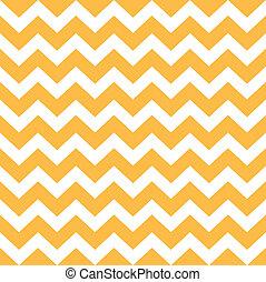 modèle, chevron, -, jaune, thanksgiving, blanc