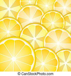 modèle, citrons, tranches