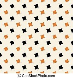 modèle, clair, carrée, noir, orange, diamant, seamless, vecteur