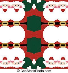 modèle, claus, seamless, santa