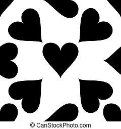 modèle coeur, illustration, arrière-plan., vecteur, blanc, icône
