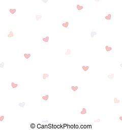 modèle coeur, seamless, fond, vecteur, blanc