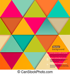 modèle, coloré, banner., mosaïque, géométrique, retro, shapes., geome