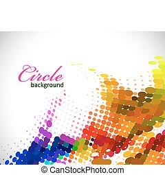 modèle, coloré, cercle