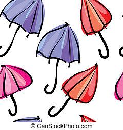 modèle, coloré, seamless, parapluies