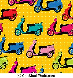 modèle, comique, style, scooter