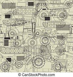 modèle, costruction, véhicules