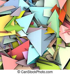 modèle, couleur, résumé, arc-en-ciel, fragmenté, toile de fond, 3d