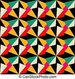 modèle, couleurs, géométrique, seamless, retro