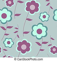 modèle décoratif, fleurs, seamless