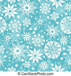 modèle décoratif, gelée, seamless, fond, flocon de neige