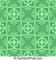modèle décoratif, vert, retro, seamless