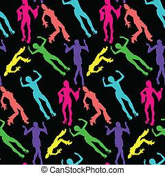 modèle, danse, seamless, disco, 60