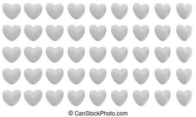 modèle, de, 3d, cœurs, isolé, blanc, fond