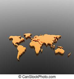 modèle, de, les, géographique, planisphère