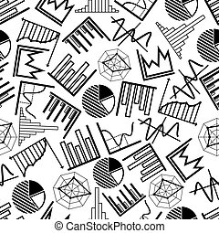 modèle, diagrammes, tarte, diagrammes, graphiques