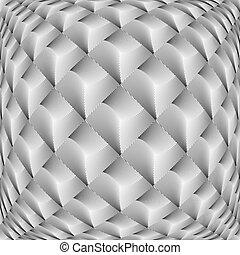 modèle diamant, grille, tordu, conception, monochrome