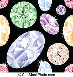 modèle, diamant, seamless