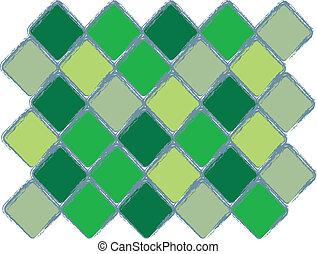 modèle, diamant, vert