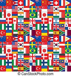 modèle, drapeau, fait, icônes