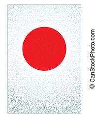 modèle, drapeau, japonaise