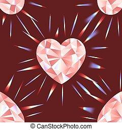 modèle, essentiels, arc-en-ciel rose, seamless, diamant