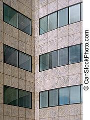 modèle, façade bâtiment, moderne, bureau