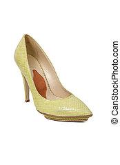 modèle, femme, chaussure, serpent