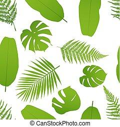 modèle, fern., seamless, illustration, exotique, vecteur, paume