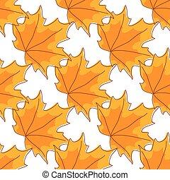 modèle, feuilles, automnal, seamless, orange, érable