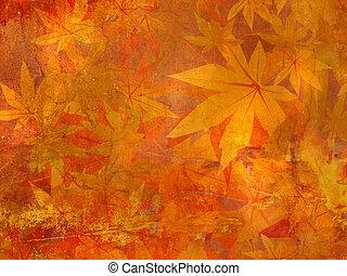 modèle, feuilles, automne