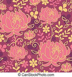 modèle, feuilles, seamless, fond, fleurs, rouges