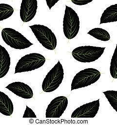 modèle, feuilles, seamless, illustration, vecteur, fond