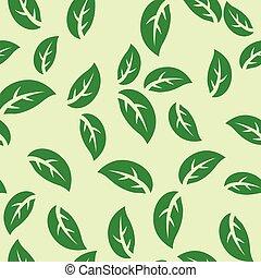 modèle, feuilles, vert