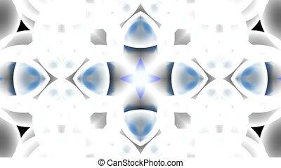 modèle, fleur bleue, fantaisie, verre