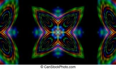 modèle, fleur, laser, rayons, disco