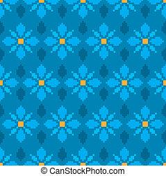 Modèle Fleur Pixel