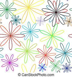 modèle, fleurs, coloré, seamless